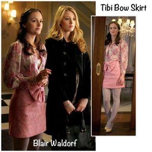 "Tibi ""Ainsley"" Pink Tweed Bow Mini Skirt 4"